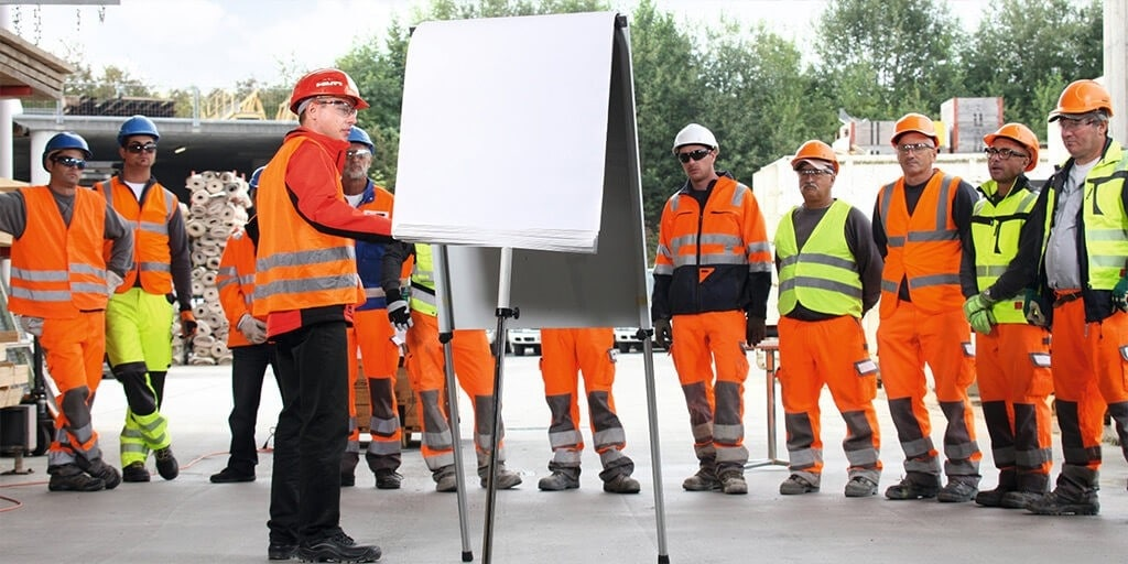 Hilti trained workers in heatlh and safety aspects