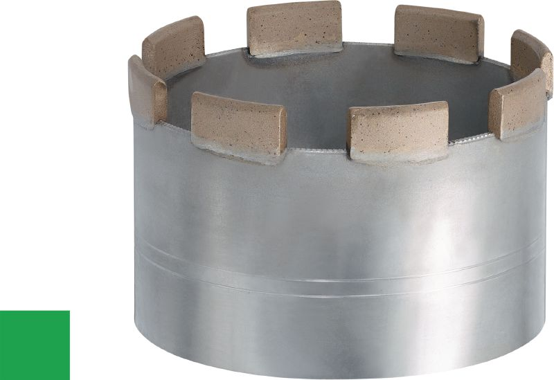 P-U abrasive change module Standard brazeable change module for coring in all types of concrete – for all tools