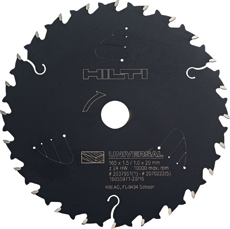 CPC - universal wood cutting Premium circular saw blade for universal wood cutting, offering more run time for cordless saws