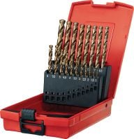 HSS Co set Ultimate HSS cobalt drill bit sets for drilling in thick metal and stainless steel, DIN 338 compliant (metric)