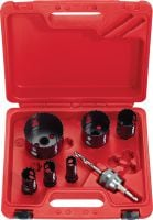 HS-MU sets Set of MultiCut bimetal hole saws for cutting holes in various materials