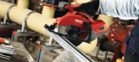 SCM 22-A Cordless 22V circular saw operated by Li-ion battery featuring guide rail compatibility and metal chip collector for cold metal cutting Applications 1