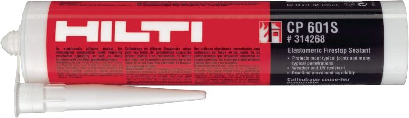 CP 601s Firestop silicone sealant Silicone-based sealant providing maximum movement in fire-rated joints and pipe penetrations