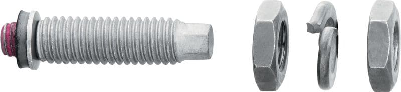 S-BT-EF Threaded screw-in stud (HDG carbon steel, metric thread) for electrical connections on steel in mildly corrosive environments