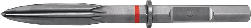 TE-H28P SM HEX 28 (H28) pointed chisel with polygon-wave design for highest productivity in heavy demolition