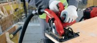 SC 70W-A22 22V cordless circular saw for cutting thicknesses up to 70 mm Applications 2